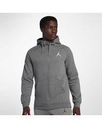 970d400029576d Nike Jordan Jumpman Fleece Full-zip Hoodie in Gray for Men - Lyst