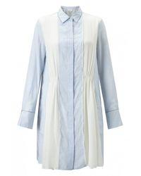 3.1 Phillip Lim   Multicolor Gathered Chiffon Shirt Dress   Lyst