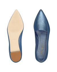 Nine West - Blue Abay Smoking Flats - Lyst