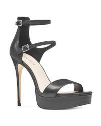 Nine West - Black Yennie Open Toe Stilettos - Lyst