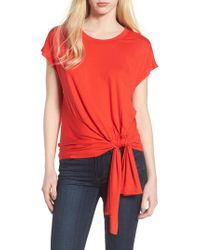 Trouvé - Red Knot Front Tee - Lyst