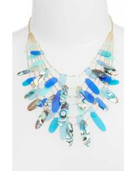 Kendra Scott - Blue Patricia Multistrand Necklace - Lyst