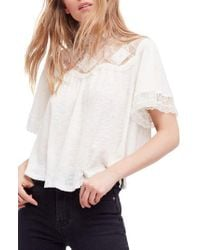 Free People - White Cape May Tee - Lyst