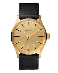 Nixon - Metallic 'the Sentry 38' Leather Strap Watch - Lyst