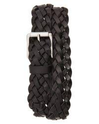 Frye - Black Woven Leather Belt for Men - Lyst