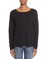 Caslon - Black Caslon Back Zip High/low Sweater - Lyst