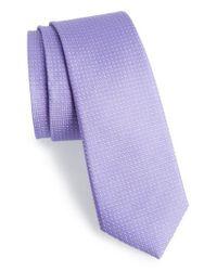Calibrate - Purple Dot Silk Tie for Men - Lyst