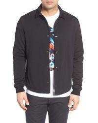 Bugatchi | Black Snap Jacket for Men | Lyst