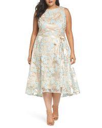Tahari - Multicolor Lace Sleeveless Dress - Lyst