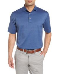 Peter Millar - Black Sean Southhills Bird's Eye Polo for Men - Lyst