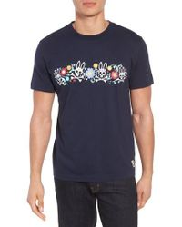 Psycho Bunny - Blue Print T-shirt for Men - Lyst