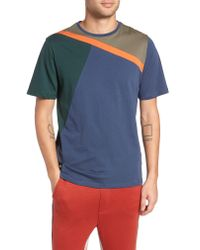 Native Youth - Blue Colorblock T-shirt for Men - Lyst