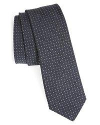 Ted Baker - Gray Dot Skinny Silk Tie for Men - Lyst