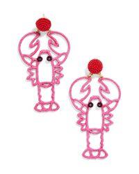 BaubleBar - Pink Sebastian Lobster Drop Earrings - Lyst