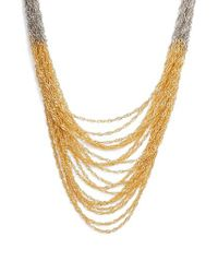 Nakamol - Metallic Colorblock Chain Necklace - Lyst