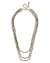 BaubleBar Black Kirrali Beaded Chain Necklace