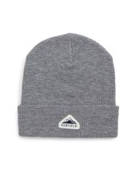 Penfield - Gray Classic Knit Cap for Men - Lyst
