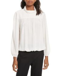 Joie | White Lively Silk Top | Lyst