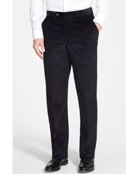 Berle - Multicolor Flat Front Classic Fit Corduroy Trousers for Men - Lyst