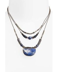 Nakamol - Gray Multilayered Necklace - Lyst