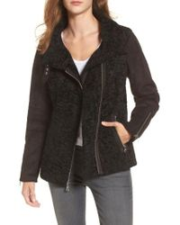 Vince Camuto - Black Faux Shearling Jacket - Lyst