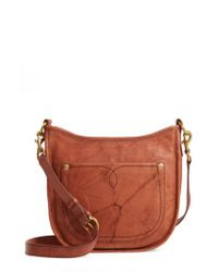 Frye - Brown Campus Rivet Leather Crossbody Bag - Lyst