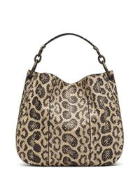 Bottega Veneta - Natural Medium Loop Genuine Snakeskin Hobo - Lyst
