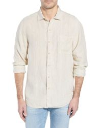 Tommy Bahama - Natural Seaspray Breezer Standard Fit Linen Sport Shirt for Men - Lyst
