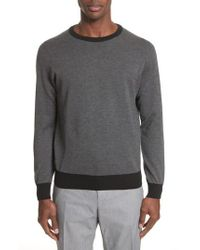 Canali - Gray Textured Cotton Sweatshirt for Men - Lyst