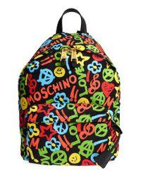 Moschino - Black Archive Print Tactel Nylon Backpack - Lyst