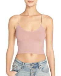 Free People | Natural Intimately Fp Crop Top | Lyst