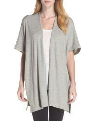Natori | Gray Retreat Sweater Knit Cardigan | Lyst