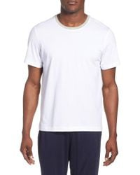 Daniel Buchler - White Crewneck Peruvian Pima Cotton T-shirt for Men - Lyst
