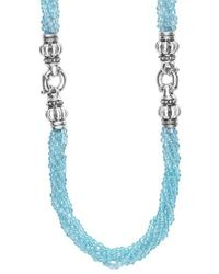 Lagos | Blue Caviar Icon Bead Convertible Bracelet & Necklace | Lyst
