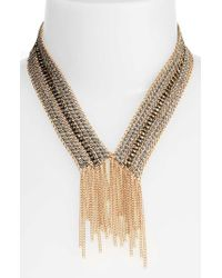 Treasure & Bond | Metallic Fringe Collar Necklace | Lyst