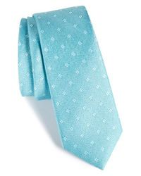 Calibrate - Orange Moten Neat Silk Skinny Tie for Men - Lyst