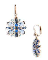 Kate Spade - Blue Snowy Nights Drop Earrings - Lyst