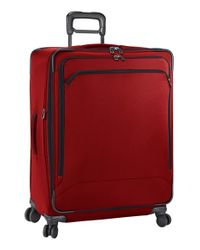 Briggs & Riley - Red 'transcend' Large Expandable Wheeled Suitcase for Men - Lyst