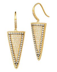 Freida Rothman | Metallic 'metropolitan' Drop Earrings | Lyst