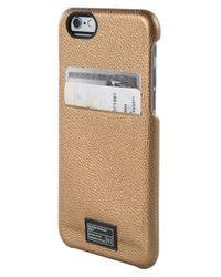 Hex | Brown Solo Iphone 6/6s Wallet Case - Metallic | Lyst