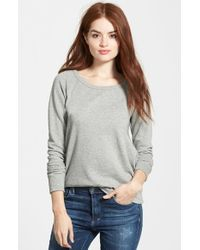 James Perse | Gray Classic Raglan Sweatshirt | Lyst