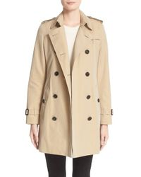 Burberry | Natural London 'kensington' Double Breasted Trench Coat | Lyst