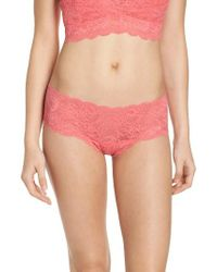 Cosabella | Pink Never Say Never Hottie Low Rise Briefs | Lyst