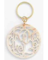 Moon & Lola | Metallic Personalized Monogram Key Chain | Lyst