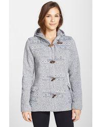 Patagonia - Gray 'better Sweater' Icelandic Duffle Coat - Lyst