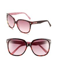 Lilly Pulitzer | Pink Lilly Pulitzer 'courtney' 58mm Sunglasses | Lyst