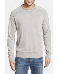Jeremiah - Gray 'armstrong' Sunwashed French Terry Sweatshirt for Men - Lyst