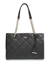 Kate Spade | Black 'emerson Place - Small Phoebe' Quilted Leather Shoulder Bag | Lyst