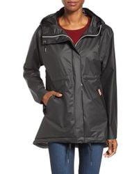 Hunter | Black 'original Smock' Hooded Drawstring Waterproof Jacket | Lyst