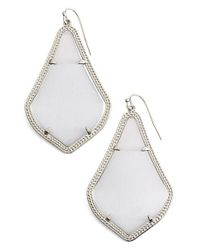 Kendra Scott | Gray 'alexandra' Agate Drop Earrings | Lyst